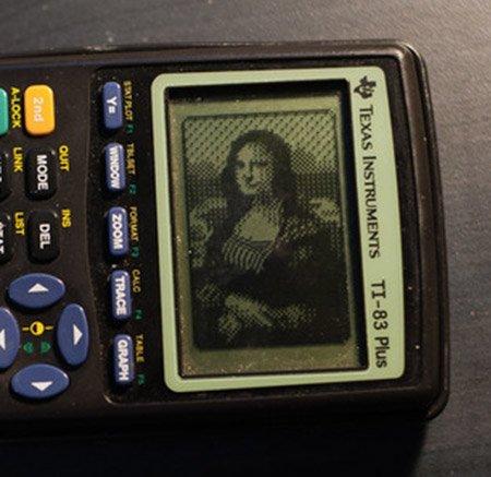 Mona Lisa a számológépen